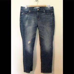 Express Modern Boyfriend Distressed Jeans 10 ankle
